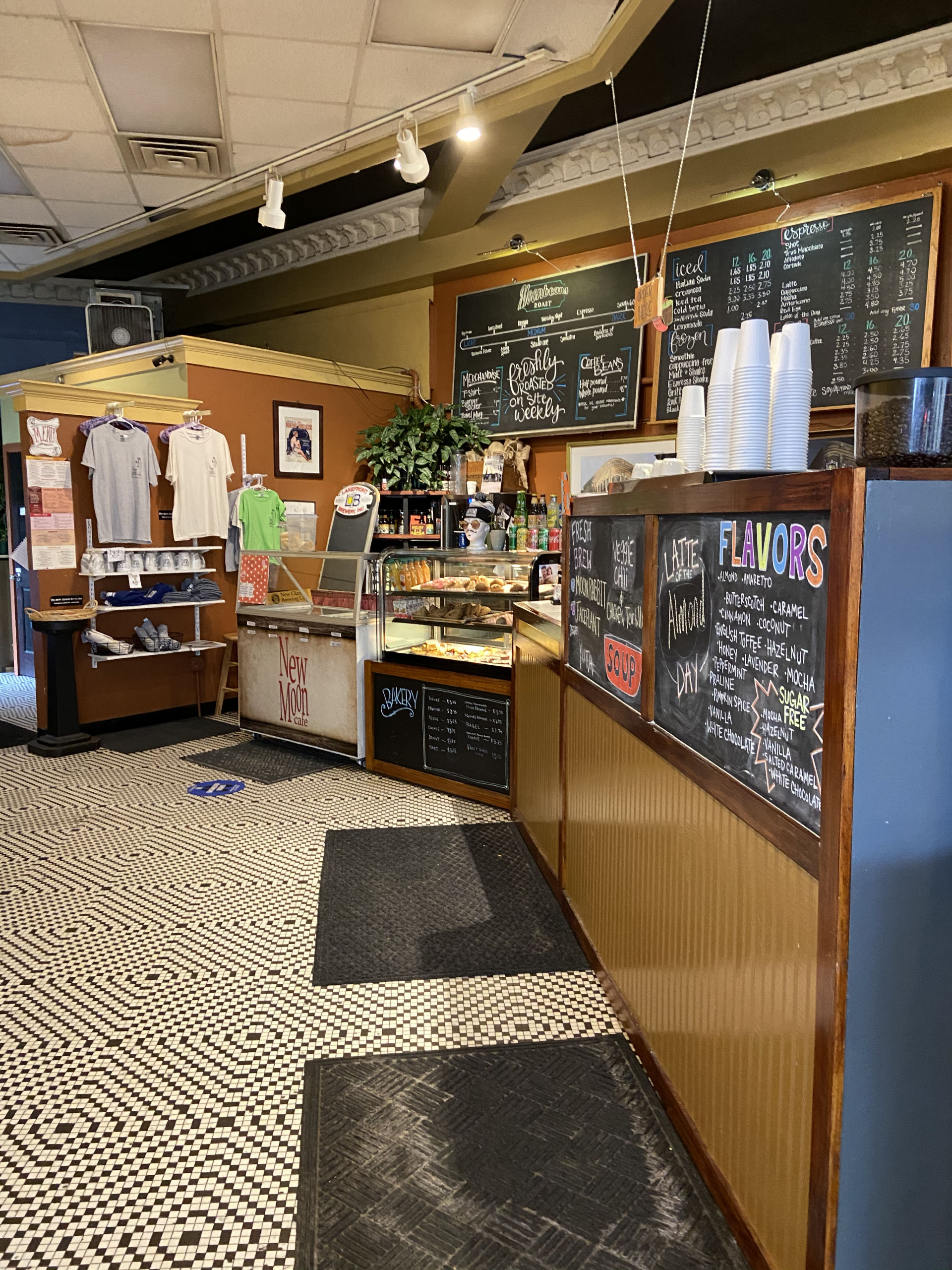 New Moon Cafe offers coffee, baked goods, sandwiches and more