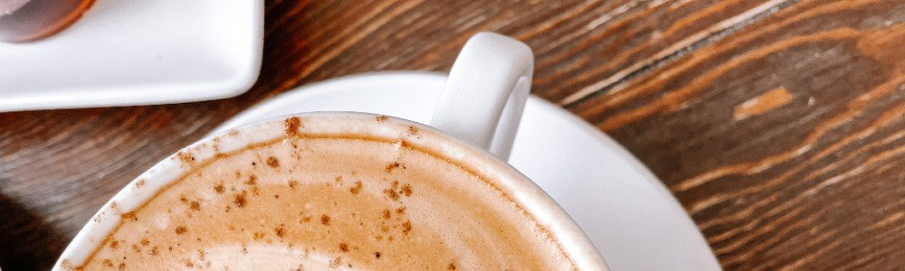 close up view of coffee cup