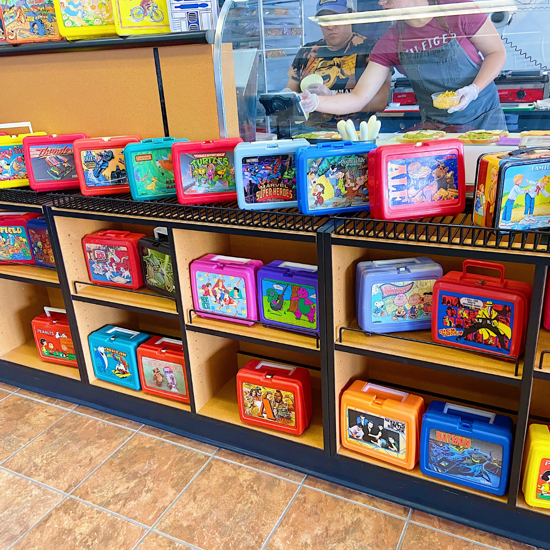 The vast collection of lunch boxes at Lunch Box Oshkosh