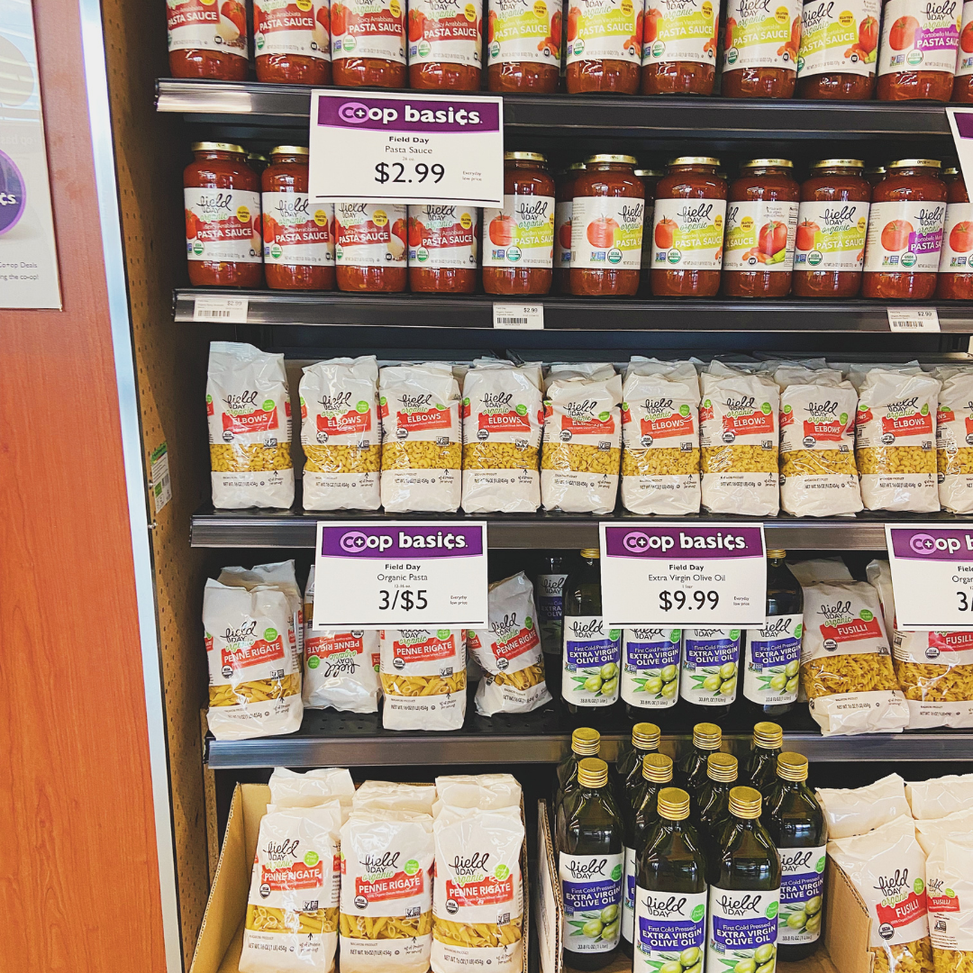 Pantry section at Oshkosh Food Co-Op